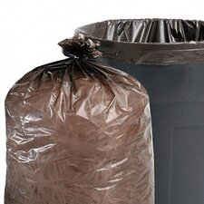 Total Recycled Plastic Trash Garbage Bags, 56 Gal, 1.5Mil,43X49, 100/Carton