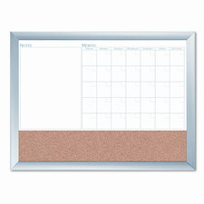 "Dudes Magnetic Dry Erase 3-N-1 1'6"" x 2"" Combo Whiteboard and Bulletin Board"
