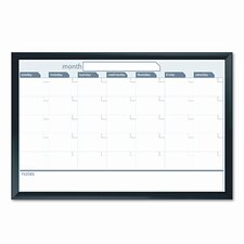 Dudes Premium Magnetic Dry Erase Monthly 2' x 3' Whiteboard
