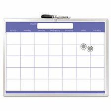 "Magnetic Monthly Planner 1'5"" x 1'11"" Whiteboard"