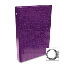 "0.5"" Crocodile Embossed Binder"