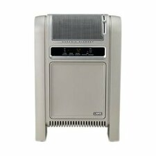Cyclonic Ceramic Cabinet Electric Space Heater with Adjustable Thermostat