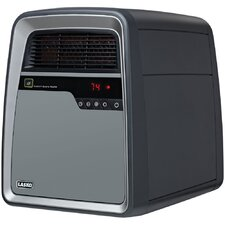 Cool-Touch Quartz Infrared Compact Space Heater with Remote Control