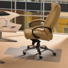 <strong>Floortex</strong> Cleartex Advantagemat Plush Pile Carpet Lipped Edge Chair Mat