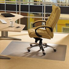 <strong>Floortex</strong> Cleartex Advantagemat Low Pile Carpet Straight Edge Chair Mat