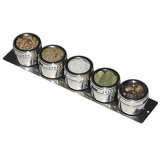 Soho 5-Piece Stainless Steel Container and Strip Board Set