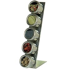 <strong>Lipper International</strong> Soho 5-Piece Stainless Steel Container and L-Stand Set