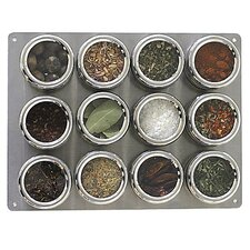 <strong>Lipper International</strong> Soho 12-Piece Stainless Steel Container and Small Board Set