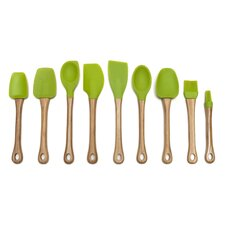 9 Piece Bamboo Handled Kitchen Utensil Set