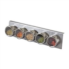 Soho 5-Piece Stainless Steel Container and Under Cabinet Rack