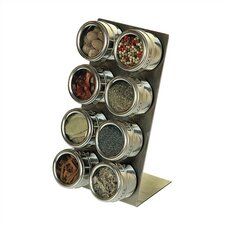 Soho 8-Piece Stainless Steel Container and L-Stand Set