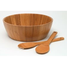 "<strong>Lipper International</strong> Bamboo 11.75"" 3 Piece Salad Set"