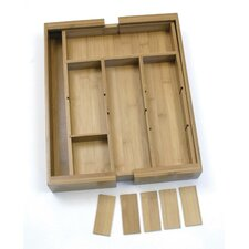 Bamboo Expandable Organizer with Removable Dividers