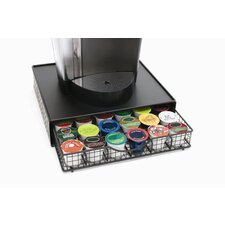 <strong>Lipper International</strong> Black Wire Coffee Maker Shelf with Storage Drawer