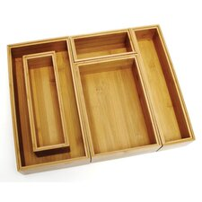 Bamboo 5 Piece Organization Box Set