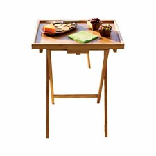 Bamboo Snack TV Tray Table (Set of 2)
