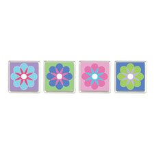 Kid's Flower Design Magnetic Clip (Set of 4)