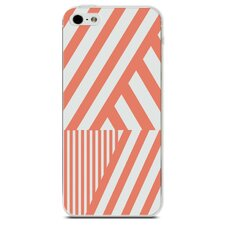 Coral Stripe iPhone 4/4S Case