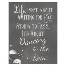 Dancing in The Rain... Art Print