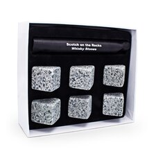 Mixology 6 Piece Scotch on the Rocks Whisky Stone Set (Set of 6)