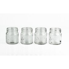 Mixology 4 Piece Jam Pot Shot Glass Set