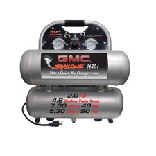 4.6 Gallon GMC SYCLONE 4620A Ultra Quiet and Oil Free Air Compressor
