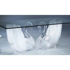 Acrylic Legend Swan Rectangular Dining Table Base