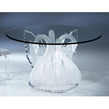 Acrylic Legend Swan Round Dinette Dining Table Base