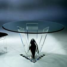 Diamond Cut Acrylic Dinette Table Base