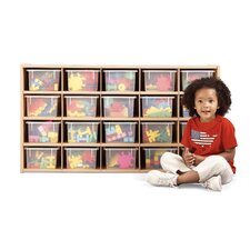 20 Tray Storage Cubbie with Clear Trays