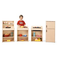 Four Piece Play Kitchen Set