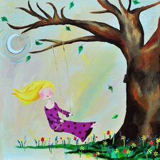 <strong>CiCi Art Factory</strong> Wit & Whimsy Swing Canvas Print