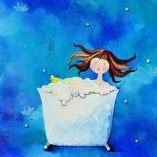 Wit & Whimsy Bathtime Canvas Art