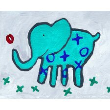 Paper Prints X & O Elephant Canvas Print