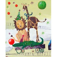 Circus Train Lion Paper Prints