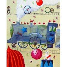 Circus Train Poodle Paper Print