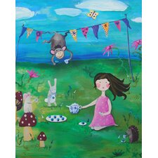 Wit and Whimsy Tea Party 2 Canvas Print