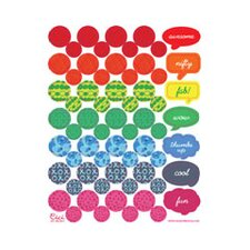 Patchwork Art Corners Word Bubbles Paper Print