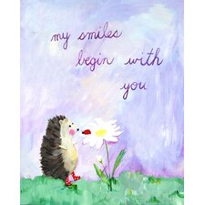 <strong>CiCi Art Factory</strong> Words of Wisdom My Smiles Begin with You Print
