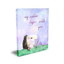 <strong>CiCi Art Factory</strong> Words of Wisdom My Smiles Begin with You Canvas Art