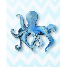 Nautical Octopus Paper Print Art