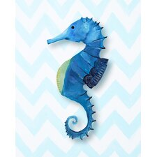 <strong>CiCi Art Factory</strong> Nautical Seahorse Paper Print Art