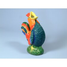 Blue Rooster Gluggle Jug