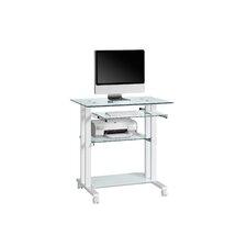 Computertisch mit Tastaturauszug, Druckerboden und Böden