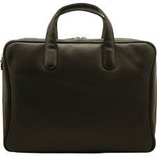 Sienna Leather Single Zip Briefcase