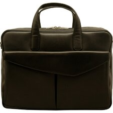 Sienna Leather Double Laptop Briefcase