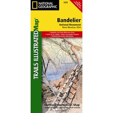 <strong>National Geographic Maps</strong> Trails Illustrated Map Bandelier National Monument