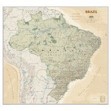 Brazil Executive Wall Map