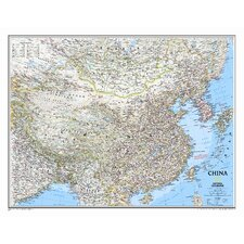 China Classic Wall Map