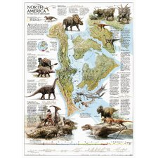 Dinosaurs of North America Poster Map